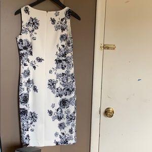 New Talbots sleeveless Floral shift dress size 2P